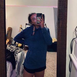 Oversized Hollister Blue Sweatshirt! <3